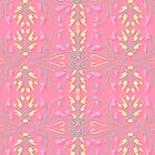 Spring Pink Leaves and Scrolls by Heidi Hermes