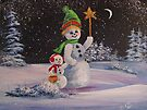 Snowmen in Acrylic 2 by teresa731