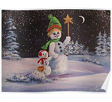 Snowmen in Acrylic 2 Poster