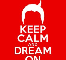 Dale Cooper's Keep Calm And Dream On iPhone Case by Pieter Dom