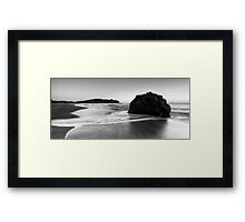 Smoothing out the Beach Framed Print