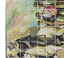 Bullfighter Scene No. 2 on Tile, Country Club Plaza, KC, Mo. by THarmonArt