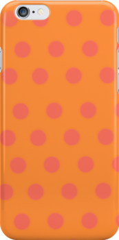 orange polka dots case by Ruth Fitta-Schulz