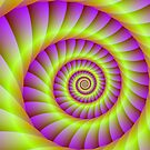 Pink and Yellow Spiral by Objowl