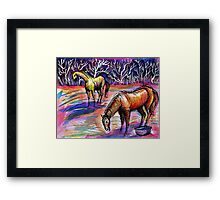 Autumn Morning With Horses Framed Print