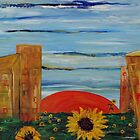 """Landscape with sunflowers"" by Elin Bogomolnik"