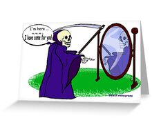 Death Rehearses Greeting Card