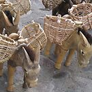 Group of wooden dunkees - grupo de burros de madera, Puerto Vallarta, Mexico by PtoVallartaMex