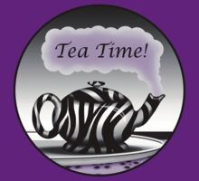 "Zebra Print Teapot Purple Steam ""Tea Time"" Design by Starzraven"