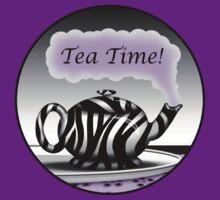 "Zebra Print Teapot Purple Steam ""Tea Time"" Design by Starzraven"