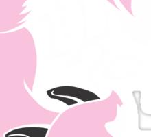 Crazy Like A Fox - Pink Sticker