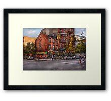New York - City - Corner of One way & This way  Framed Print