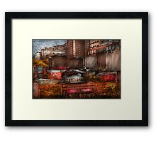 New York - City - Greenwich Village - Abstract city Framed Print