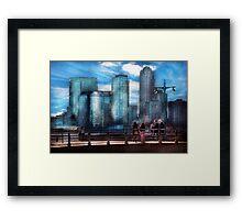 New York - City - Hudson River Park - Downtown Framed Print