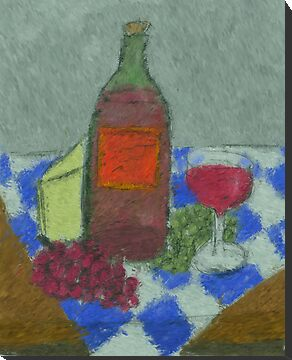 Impressionist Still Life with Wine by Sarah Countiss