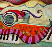 Piano,quitar &Violin abstract by sharlesart
