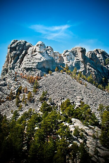 Looking Up at Mount Rushmore by trussphoto