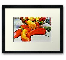 Pepper Harvest Framed Print