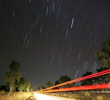 Star Trails in the Outback by weathermon