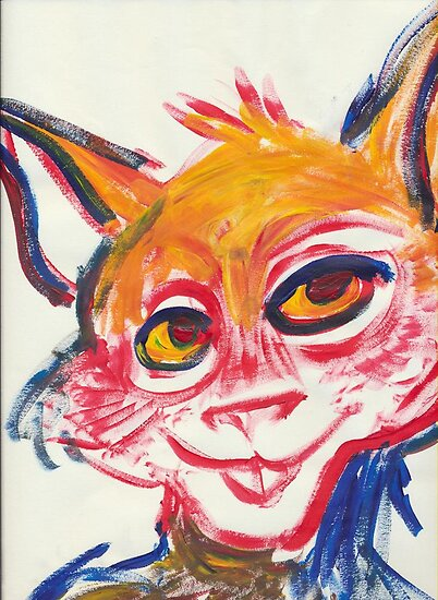 Multicolored cat rabbit by Candysays