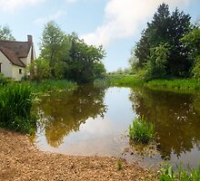 Willy Lott's Cottage and Flatford Mill, Flatford by sharpeimages