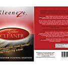 Kleeneze Leather Cleaner Label by Gavin Shields