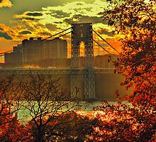 USA. New York. Hudson River. George Washington Bridge. by vadim19