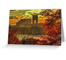 USA. New York. Hudson River. George Washington Bridge. Greeting Card