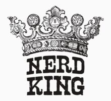 Nerd King Crown Logo (Black Ink) by nerdking