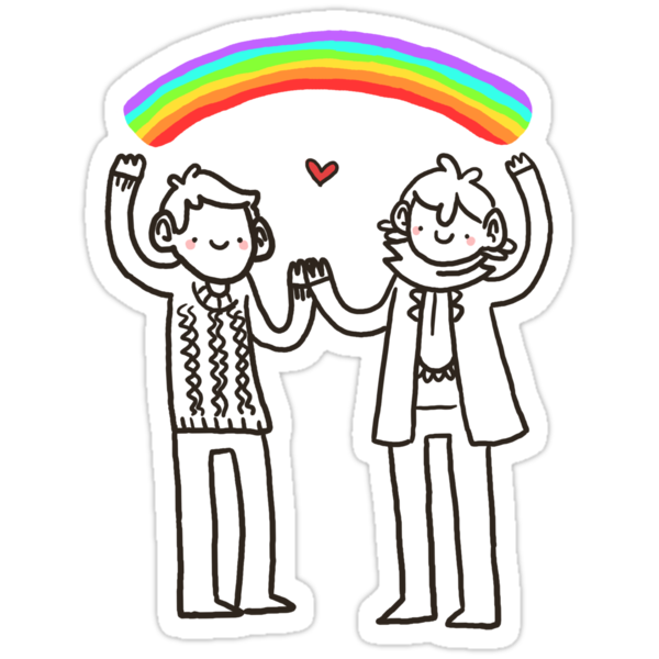 Sherlock and John: Rainbows by geothebio