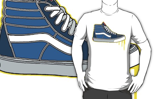 VANS SK8 H: NAVY BABY BLUE by SOL  SKETCHES™