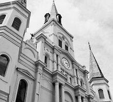 St. Louis Cathedral New Orleans-B&W FIne Art Photo by HighTraverse