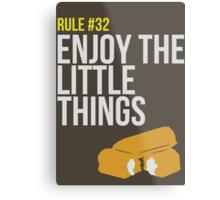 Zombie Survival Guide - Rule #32 - Enjoy the Little Things Metal Print