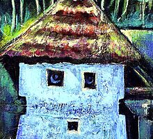 The Old House with a Face by ivDAnu