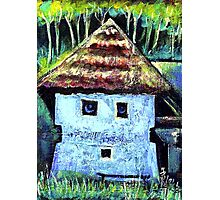 The Old House with a Face Photographic Print