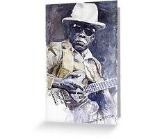 Bluesman John Lee Hooker 3 Greeting Card