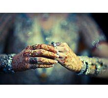 Brides hands Photographic Print