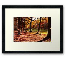 Golden golfers Framed Print