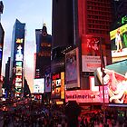 Times Square in New York City at night photography by Vitaliy Gonikman
