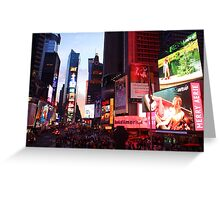 Times Square in New York City at night photography Greeting Card