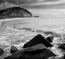 East Beach Black and White by Daniel  Bristow