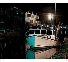 Moon Lit Harbor by Richard Bean