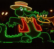 Orleans Casino Neon Alligator by Henry Plumley