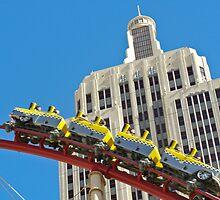 NY NY Casino Roller Coaster by Henry Plumley