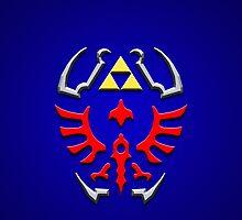 Link's shield Hylian Shield by aaronnaps