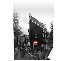 Slim buildings Amsterdam Poster
