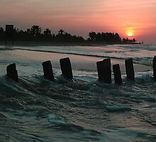 Kotu Beach Sunset  by Hovis