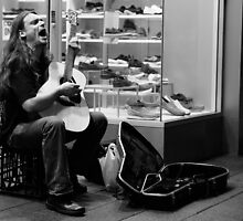The Busker by Paula McManus