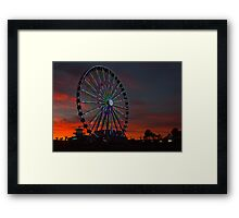 Wheeling the Night Sky Framed Print