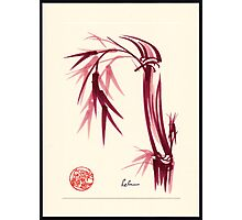 """Lovely""  zen bamboo brush painting Photographic Print"